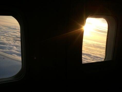 amanecer avion