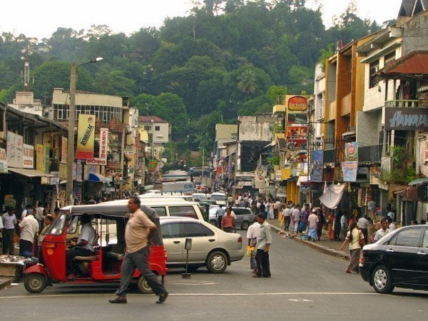 kandy sri lanka street city