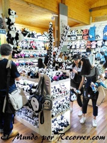 Tienda del centro de investigación de osos pandas