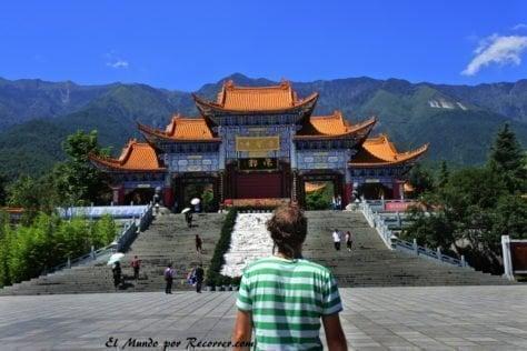 Dali china  pagodas templo plaza