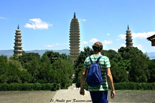 Dali china pagodas templo torre
