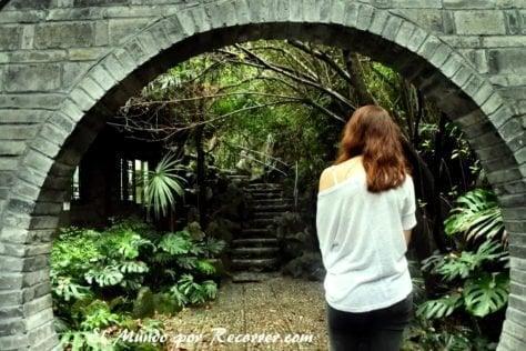 Un camino misterioso dentro del People's park chengdu