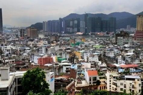 La ciudad de Macao con una increíble densidad de población