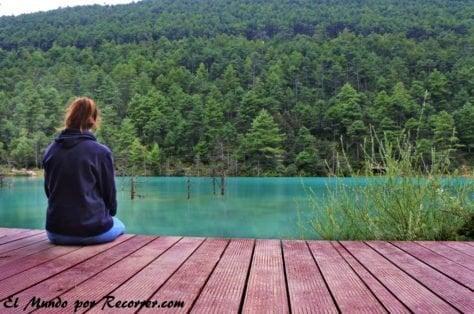 montana del dragon de jade camino lago moon hill