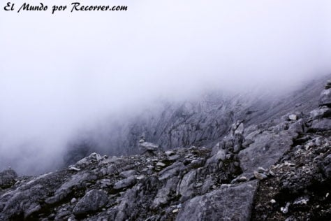 Las únicas vistas hacia abajo desde la montaña