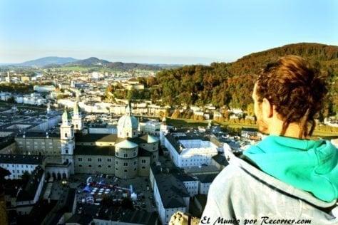 Vistas desde el castillo de Salzburg