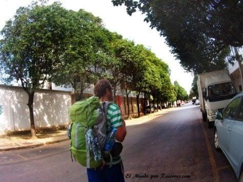 Mochila Verde quechua China mochilero travelling