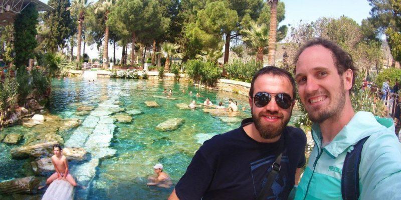 Turquia turkey hierapolis pamukale vistas banos cleopatra piscina ruinas