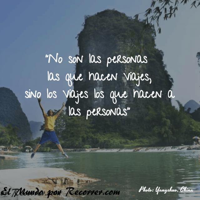 Citas Viajar Travel quote Frases motivacion wanderlust no son personas hacen viajes hacen personas