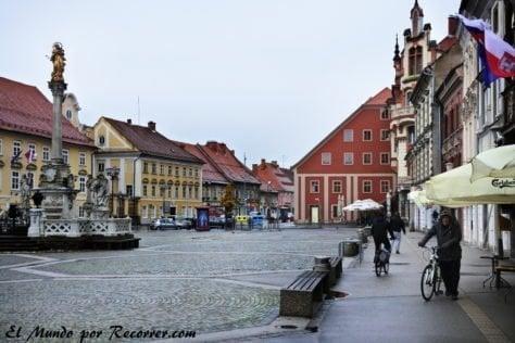 Plaza central en Maribor