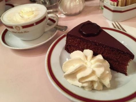 sacher torte and melange