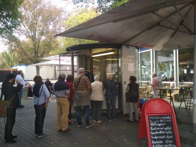 Erfurt salchichas comer puesto alemania