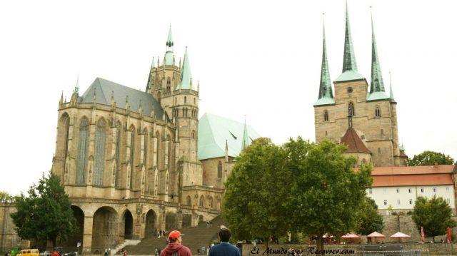 domplatz plaza de la catedral en erfurt