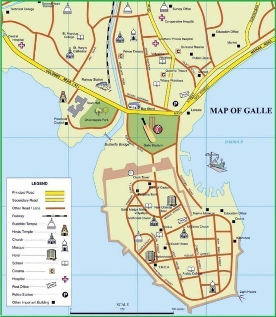 map of galle