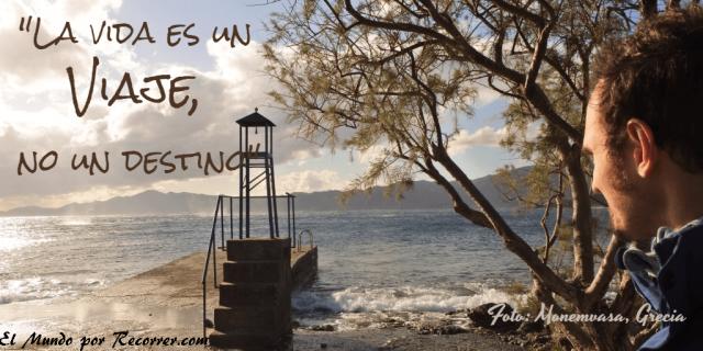Citas Viajar Travel quote Frases motivacion wanderlust la vida es un viaje no un destino
