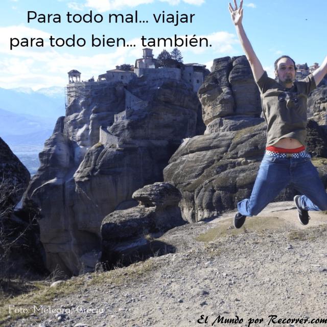 Citas Viajar Travel quote Frases motivacion wanderlust para todo mal viajar para todo bien tambien