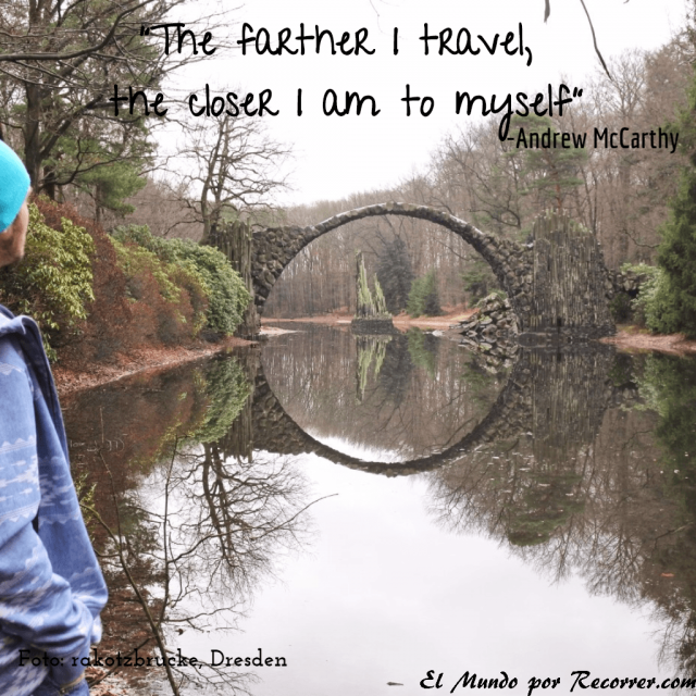 Citas Viajar Travel quote Frases motivacion wanderlust the further i travel the closer i am to myself