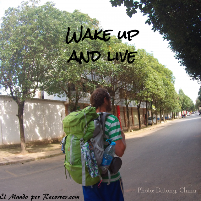 Citas Viajar Travel quote Frases motivacion wanderlust wake up and live
