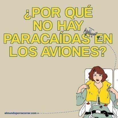 ¿Por qué NO hay Paracaídas y sí chalecos salvavidas en los aviones?