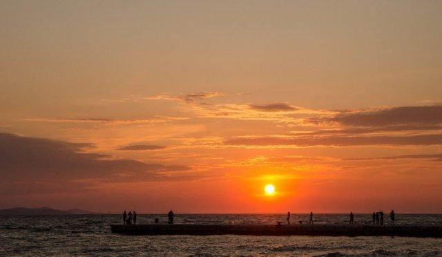 puesta sol zadar croacia