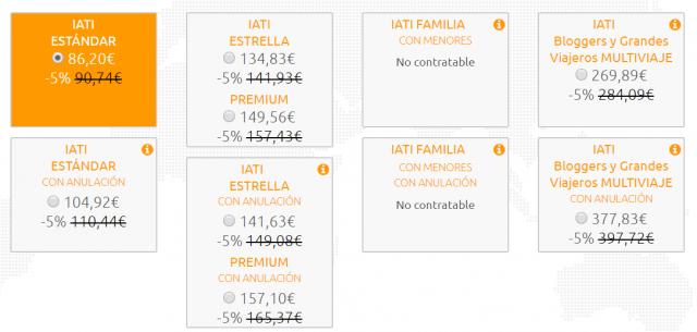 IATI Seguros viaje travel insurance mes