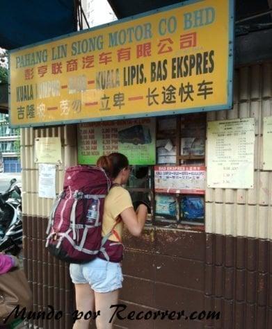 Malasia comida Kuala Lumpur bus