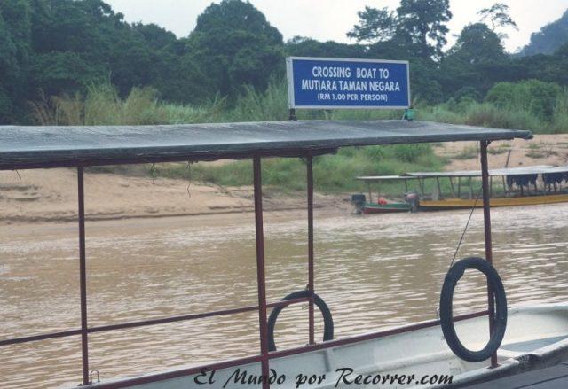 Taman Negara entrada barco RM
