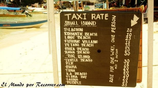 islas perhentian malasia water taxi rates