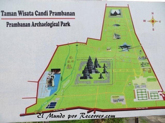 original Prambanan Temple Map