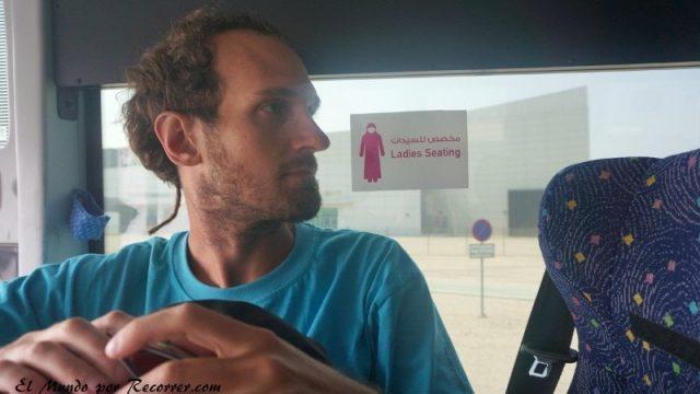 Doha Qatar ladies sitting bus autobus