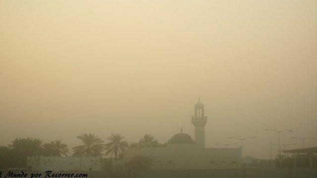 Doha Qatar polvos desierto