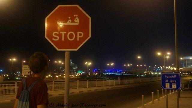 Doha Qatar senal stop