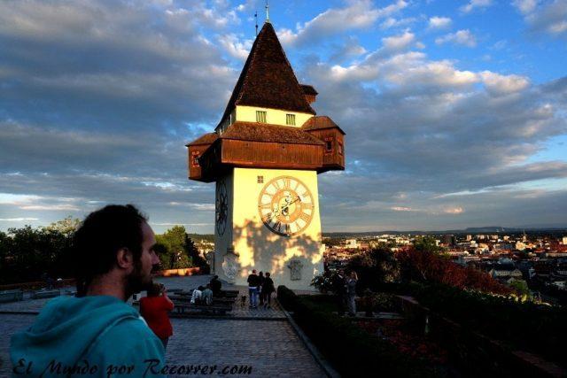 Graz Austria CIudad Unesco Torre del reloj