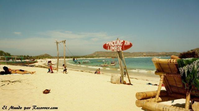 Kuta Lombok indonesia tagug aan playa