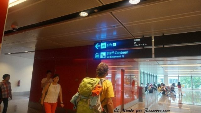 Singapur changi aeropuerto cantina trabajadores