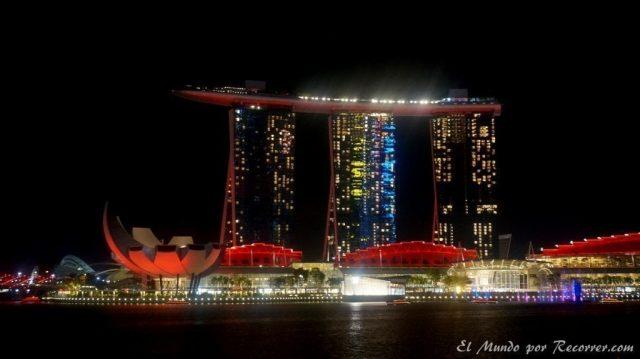 Singapur hotel marina sands bay