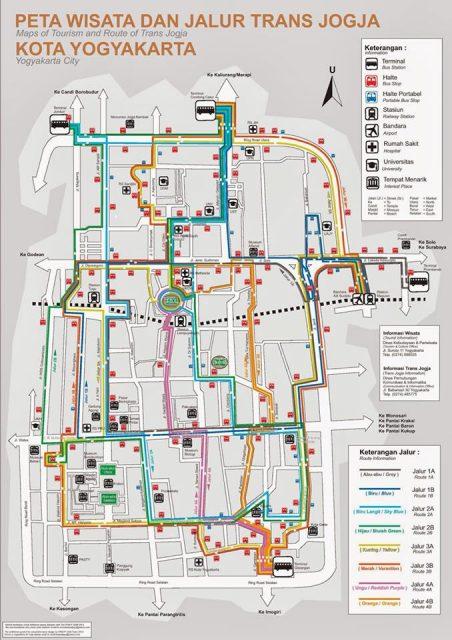 borobudur como llegar mapa trans yogja publico
