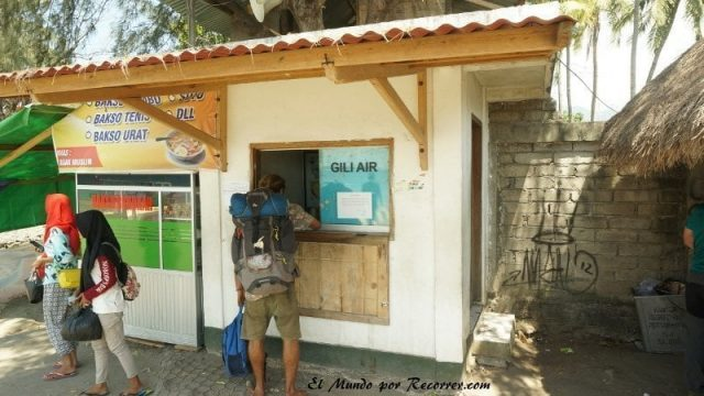 gili air ticket barco lento barato