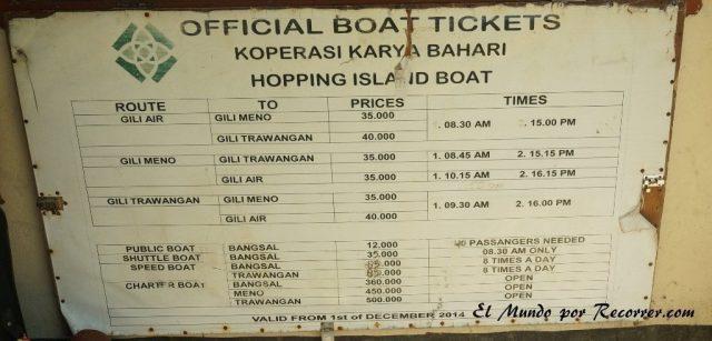 gili island hopping barcos