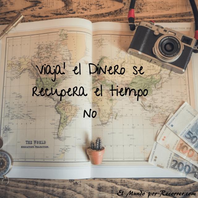 Citas de viajes travel quotes frases viajeras viaja el dinero se recupera el tiempo no
