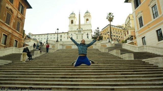 Viaje a Roma Italia Plaza españa