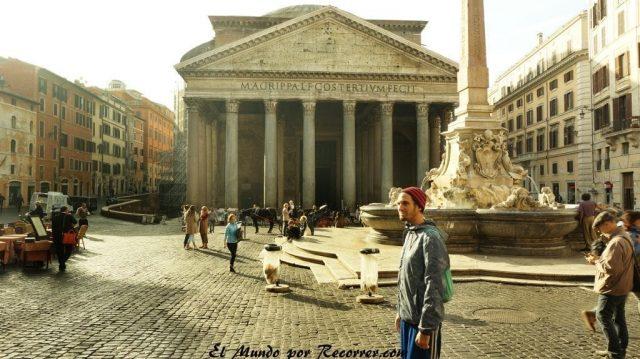 Viaje a Roma Italia parteon