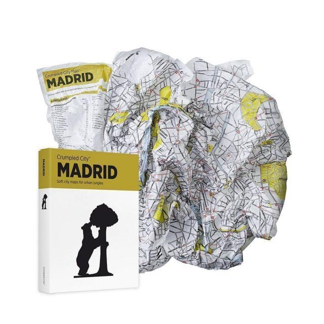 mapa arrugable madrid regalos viajeros