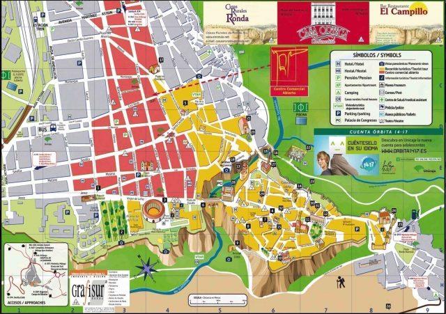 mapa turistico ronda malaga
