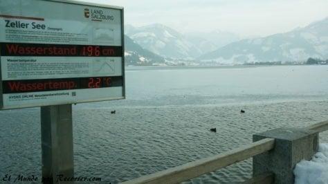 temperatura del agua en Hallstatt Austria
