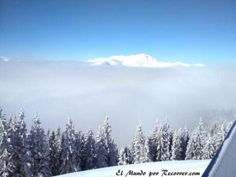 vistas desde las montañas de los Alspes Austria