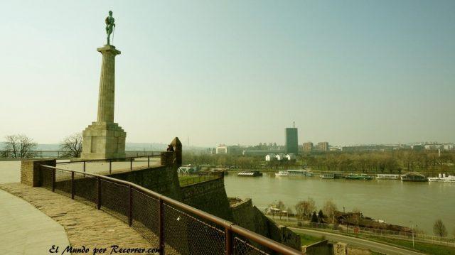 belgrado en serbia vistas desde la fortaleza