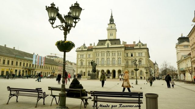 freedom square en Novi sad Serbia