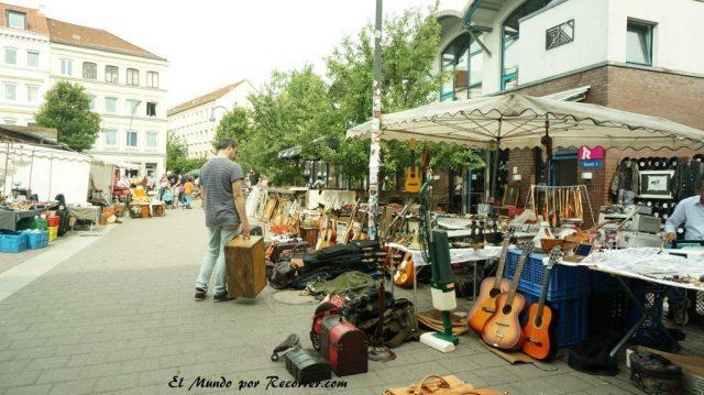 Hamburg alemania el mundo por recorrer flohmarkt