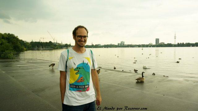 Hamburg alemania el mundo por recorrer lago alster